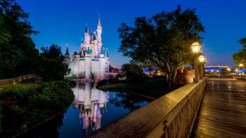 disney world magic kingdom at night