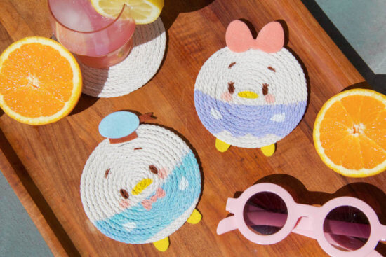 donald and daisy rope coasters
