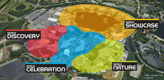 epcot new map