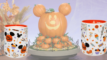 Mickey Mouse pumpkin spice candle