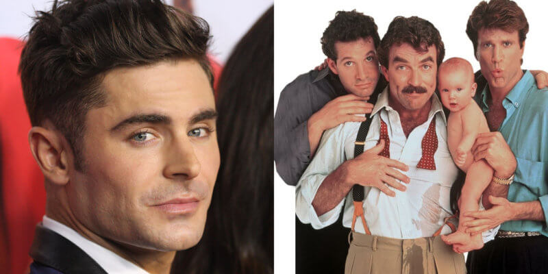 zac efron and three men and a baby