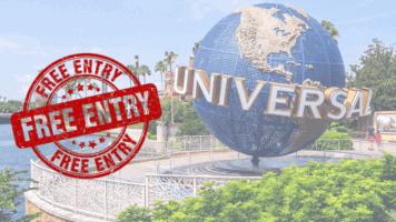 Universal Orlando free entry