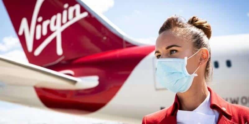Virgin Atlantic mask