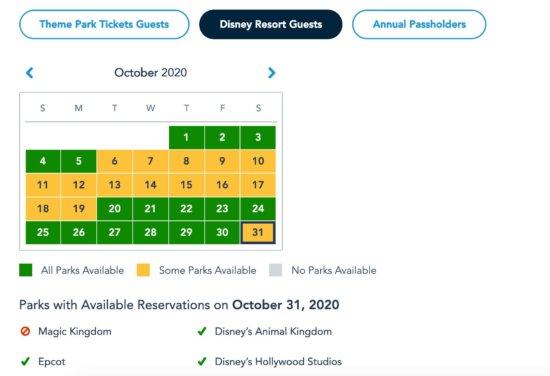 Disney Park Pass Reservations for Disney Resort Guests