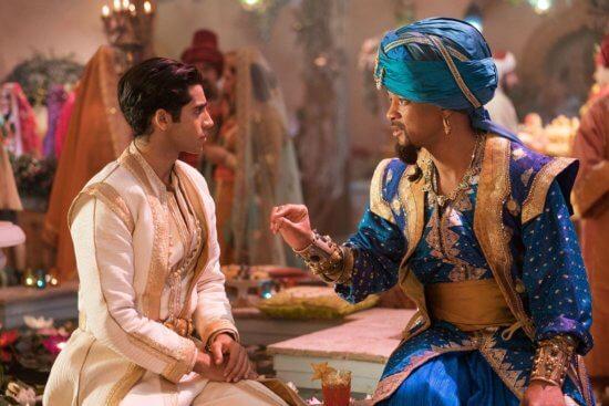 Aladdin (left) with Genie (right)