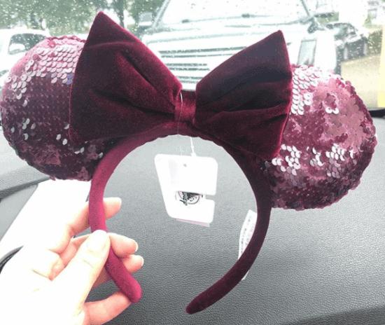 Burgundy Minnie Ears
