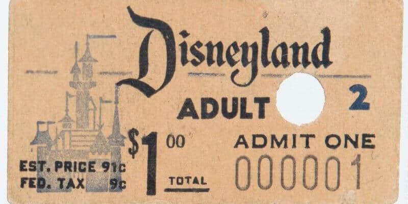 First Disneyland Ticket