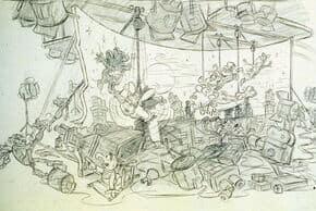 Muppet Movie Ride Concept Art