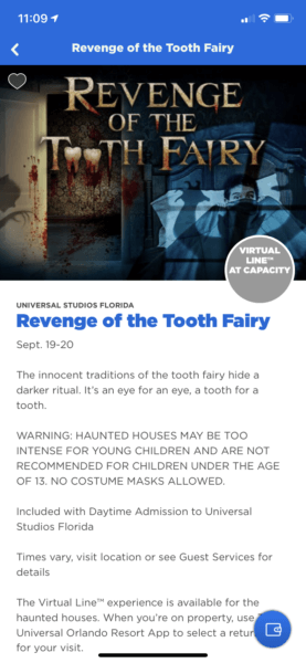Revenge of the Tooth Fairy Haunted House at Capacity