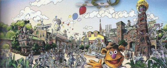 Muppet Area Concept Art