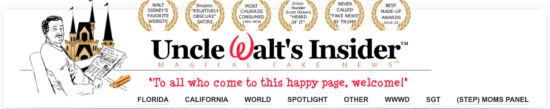 Uncle Walt's Website Banner