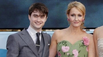 Daniel Radcliffe and J.K. Rowling