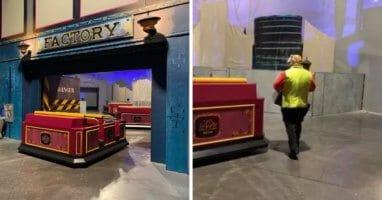Mickey and Minnie railway breakdown