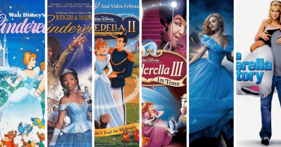 Cinderella Films Throughout Time
