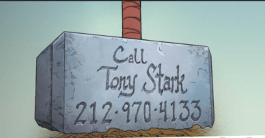 Thor #7 Comic gives out Tony Stark's number