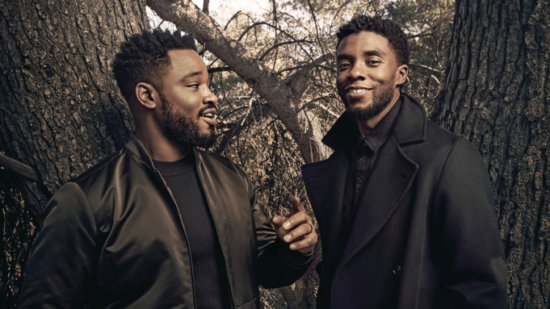 (L-R) Ryan Coogler and Chadwick Boseman photographed for Variety by Art Streiber in Los Angeles, CA on January 26, 2018