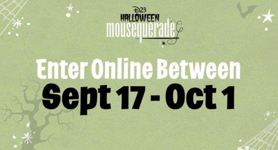Halloween Mousequerade Deadline