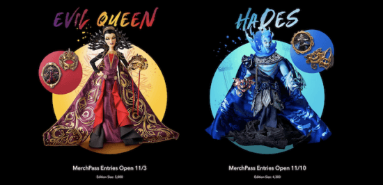 evil queen and hades Midnight Masquerade dolls collectible