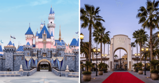 Disneyland Park & Universal Studios Hollywood