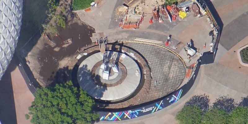 New EPCOT Signature Fountain Almost Complete!