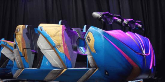 Cosmic Rewind Ride Vehicles