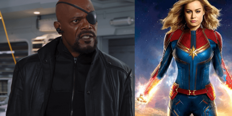 Nick Fury and Captain Marvel
