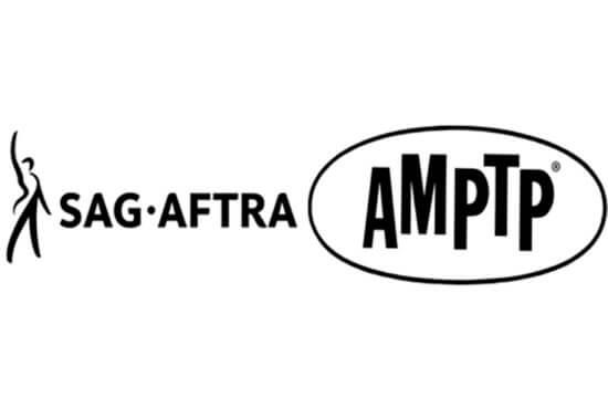 SAG-AFTRA Logo (left); AMPTP Logo (right)