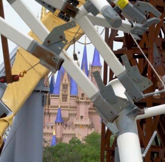 Magic Kingdom Skyline With Views of TRON Coaster