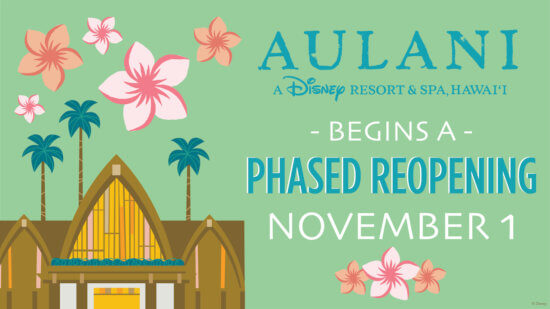 Disney's Aulani Reopening Announcement