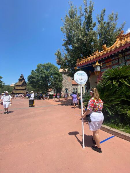 Line for Frozen Ever After