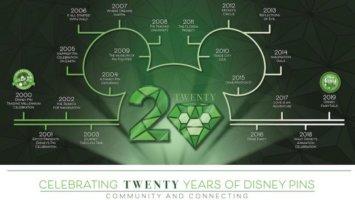 Disney 20 Years of pin trading