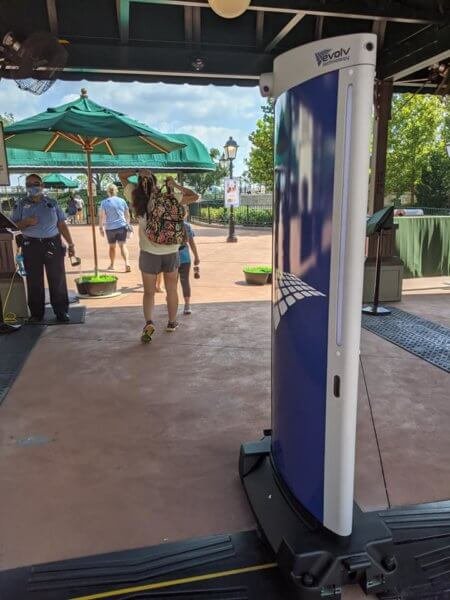 EPCOT contactless security 2