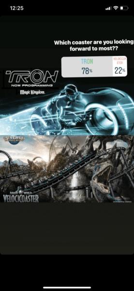 Tron vs VelociCoaster Poll