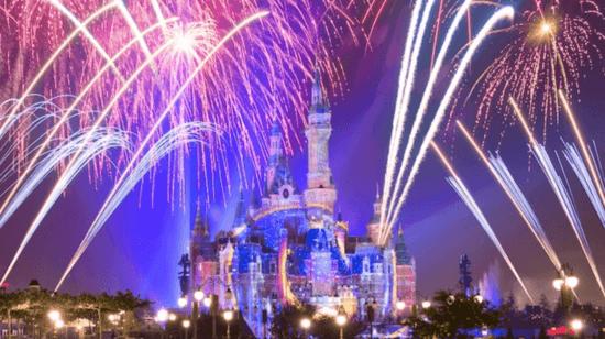 Shanghai Disney fireworks