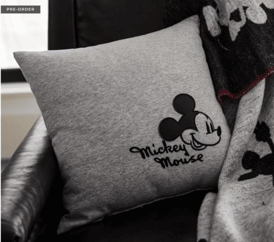 mickey applique pillow