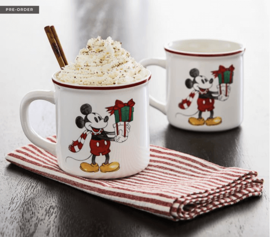 mickey christmas mugs