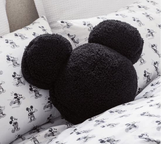 mickey mouse shaped sherpa pillow