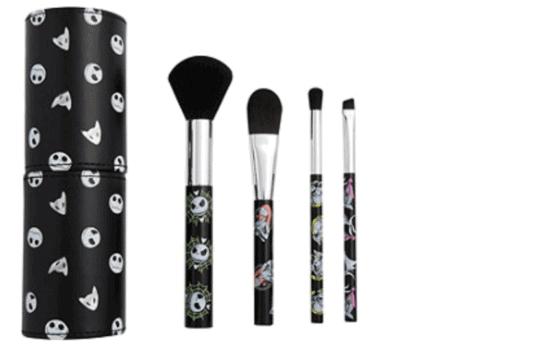 jack skellington makeup brush set