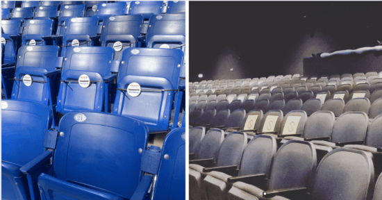 socially distanced seating