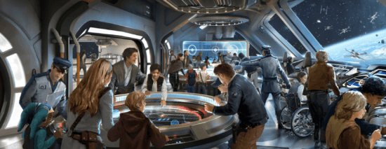 galactic starcruiser bridge area
