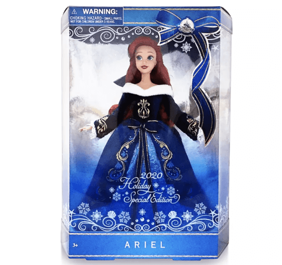 disney holiday ariel for 2020 in packaging