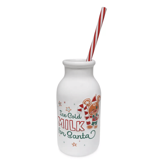 milk for santa with long straw