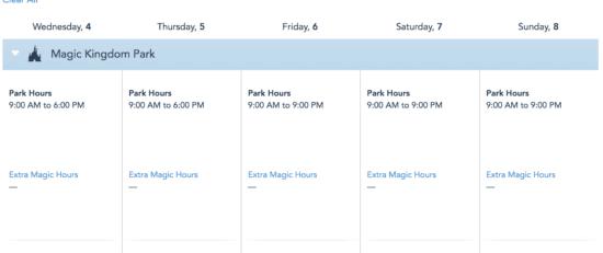 wdw park hours
