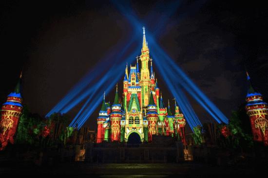 cinderella castle christmas 2020