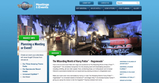 Host a private event at the Wizarding World of Harry Potter