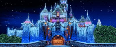 sleeping beauty castle christmas lights