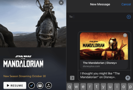 disney+ sharing feature
