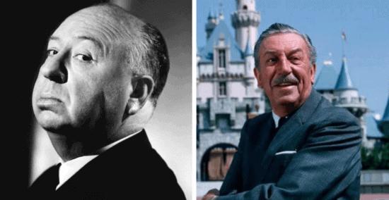 Alfred Hitchcock & Walt Disney