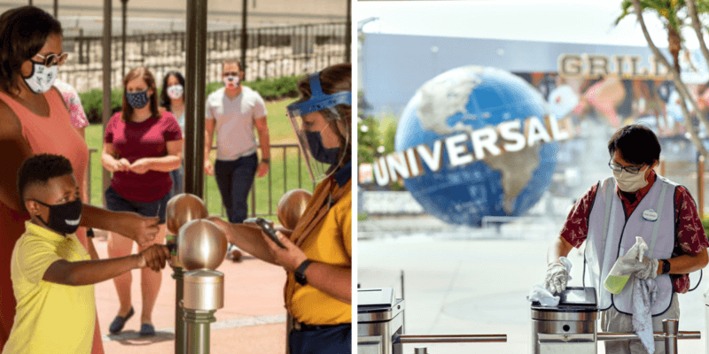 universal and disney ticket scanning