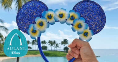 Wishes Come True Blue Aulani Ears feature